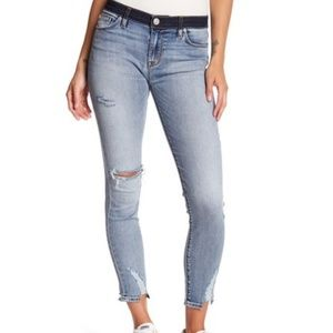 Hudson Jeans Super Skinny Nico Mid Rise Crop